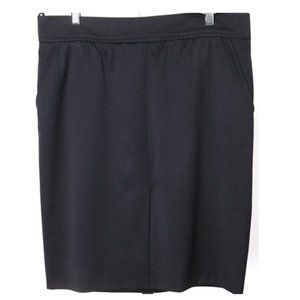 Navy Blue Pencil Chanel Boutique  Skirt 44